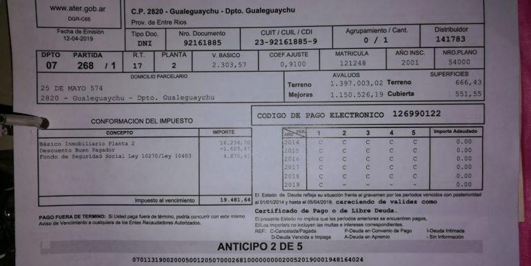 25 DE MAYO 574 ATER